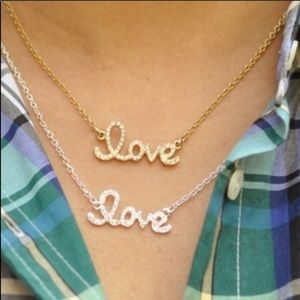 """Love necklace Silver plated 16"""""""